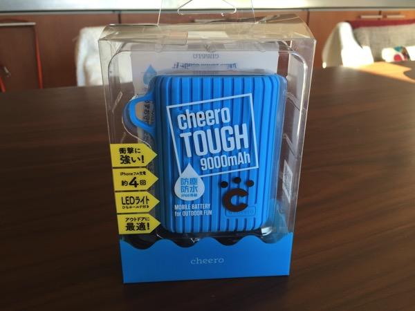 【Ingress】課金アイテム:防塵防水モバイルバッテリー「cheero TOUGH 9000mAh」