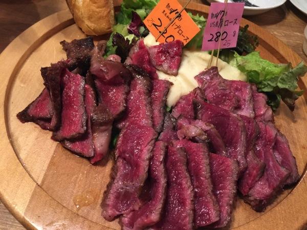 「肉アバンギャルド(秋葉原)」またもや熟成肉と暴走してきた!たたき風の仕上げに塩で食べるのも最高に旨味
