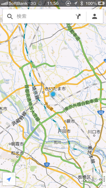 iPhoneアプリ「Googleマップ」でナビゲーションする方法