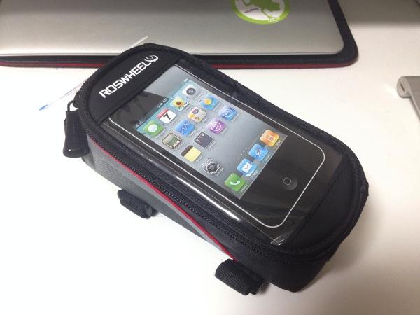 【Ingress】課金アイテム:自転車のフレームに取り付けるスマートフォン用ホルダーポーチ