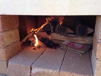 ピザ窯の作り方 5028