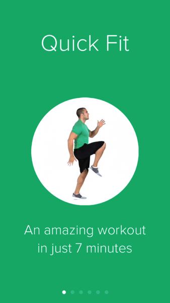 「Quick Fit」毎日わずか7分間でフィットネスできるiPhoneアプリ