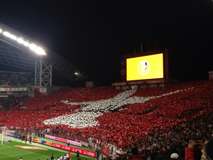 【浦和レッズ】2012シーズン最終節、田中達也のコレオとマッチデーカードは偶然の一致だった!