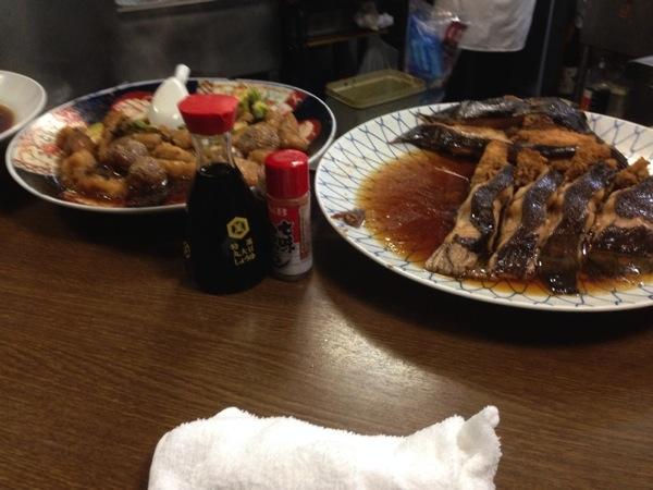 笹新 人形町 の大皿料理