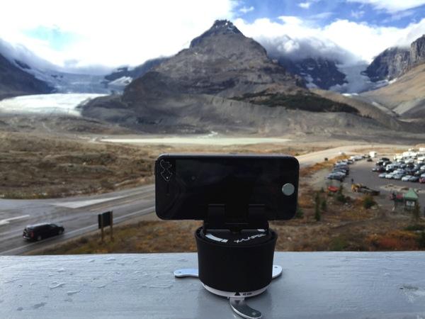 【iOS 8・タイムラプス動画】「コロンビア大氷原・アサバスカ氷河」氷河と流れる雲を撮影! #アイスフィールド・パークウェイ #アルバータ秋旅 #カナダ