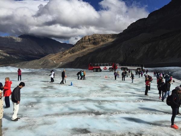 「コロンビア大氷原(Columbia Icefield)」氷河に立てる!触れる!飲める!氷河観光(グレーシャー・アドベンチャー) #アイスフィールド・パークウェイ #アルバータ秋旅 #カナダ