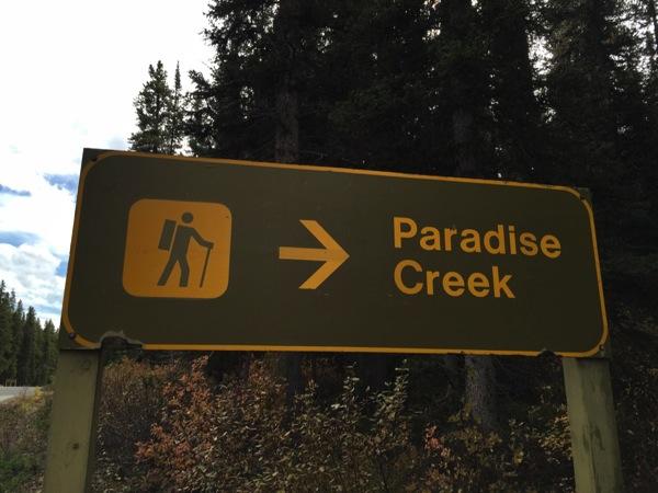カナディアンロッキーのハイキングやトレッキングを示すピクトグラムが分かりやすくて面白い #アルバータ秋旅 #カナダ