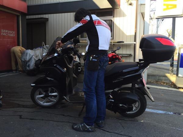 TRICITYモニターのお題「初回点検を受けにバイク屋さんへ行った様子を教えてください」 #TRICITY #トリシティ #バイク屋