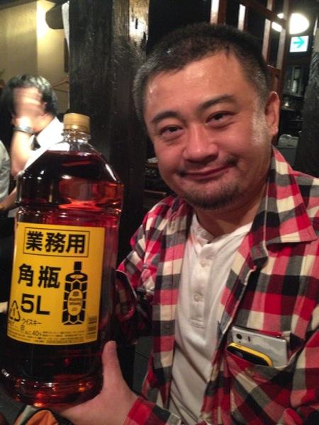 「和浦酒場弐(浦和)」5リットルの業務用角瓶をボトルキープしました!