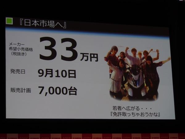Yamaha tricity 0155