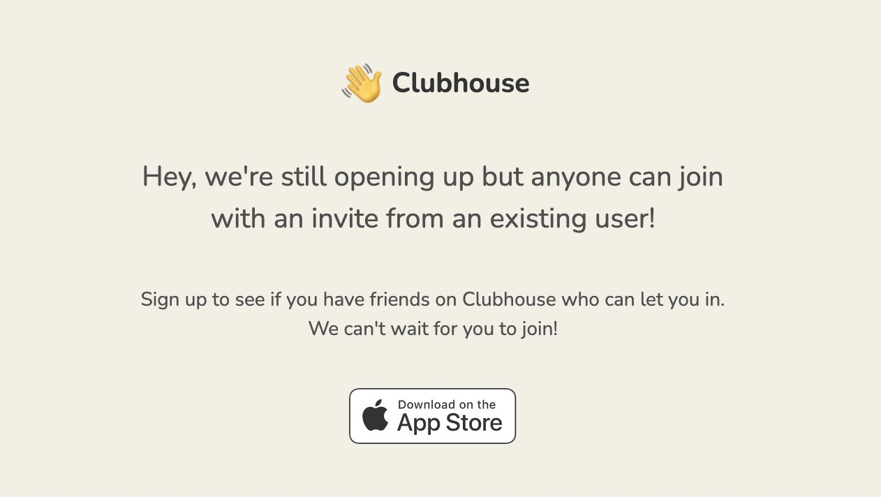 Clubhouse web 20210406