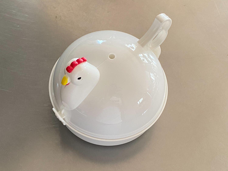 電子レンジでゆで卵「ゆで卵メーカー」とオリーブスパイス 06 04