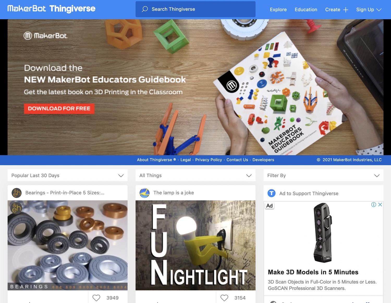 Thingiverse web 10